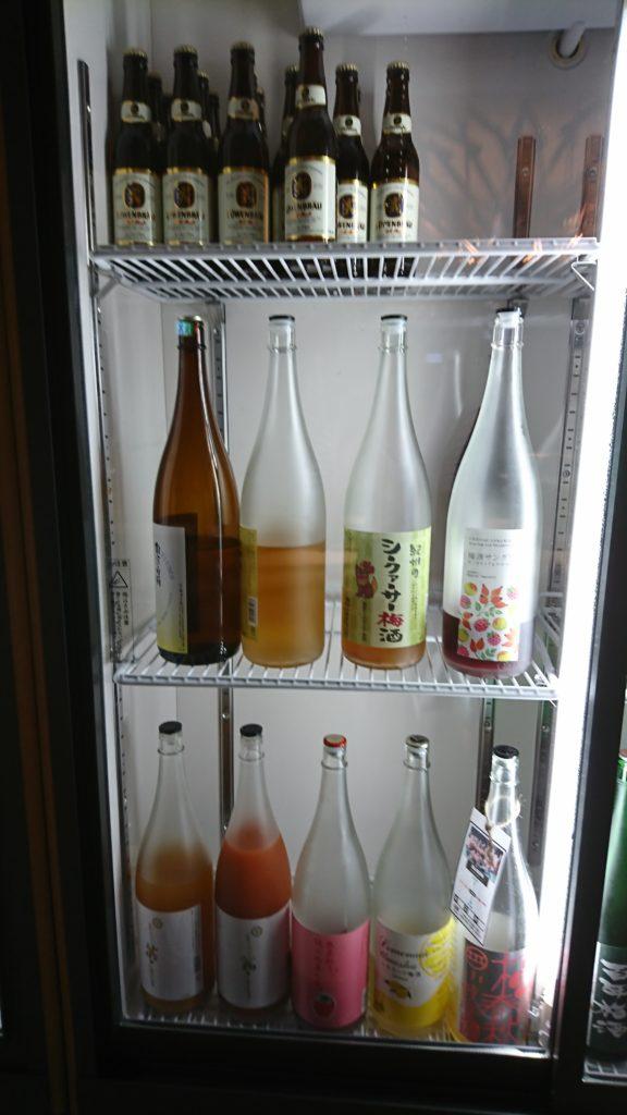 果実酒の棚